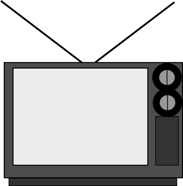 Basic clip art at. Television clipart small tv