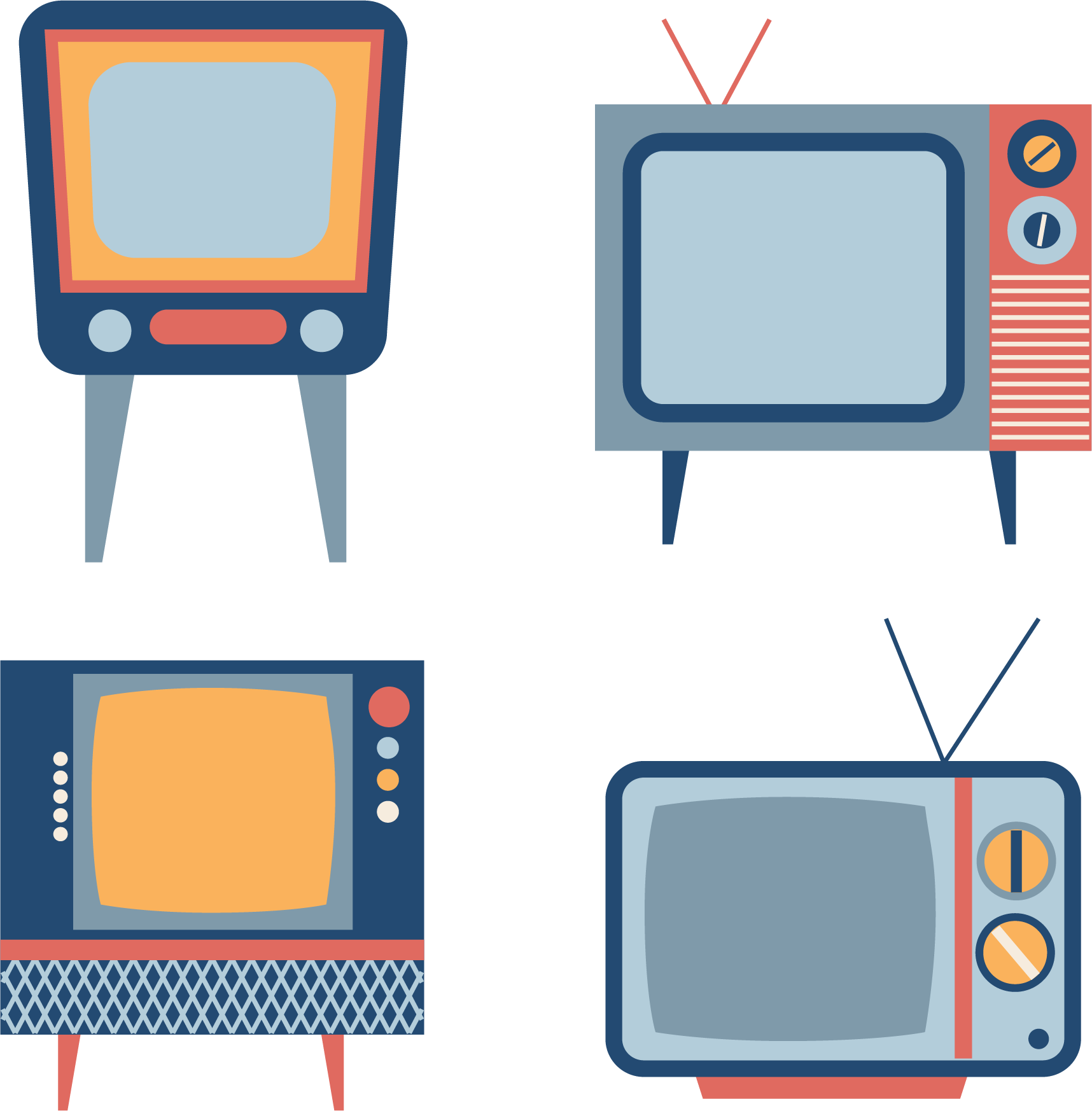 Television clipart square thing. Set vintage retro tv