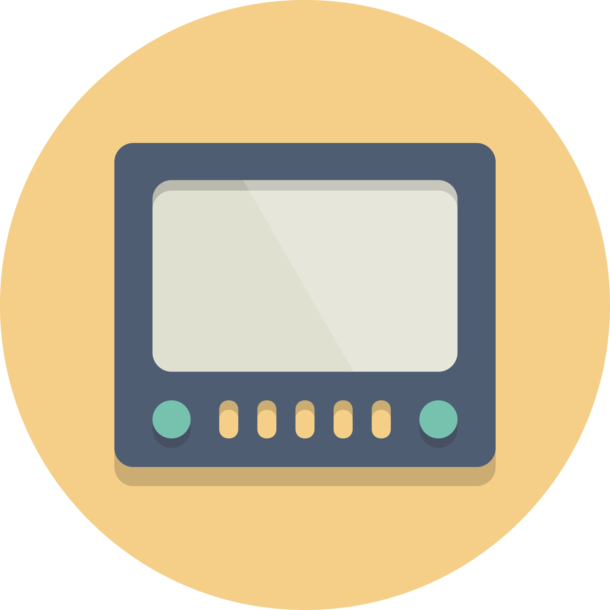 File circle icons tv. Television clipart tele