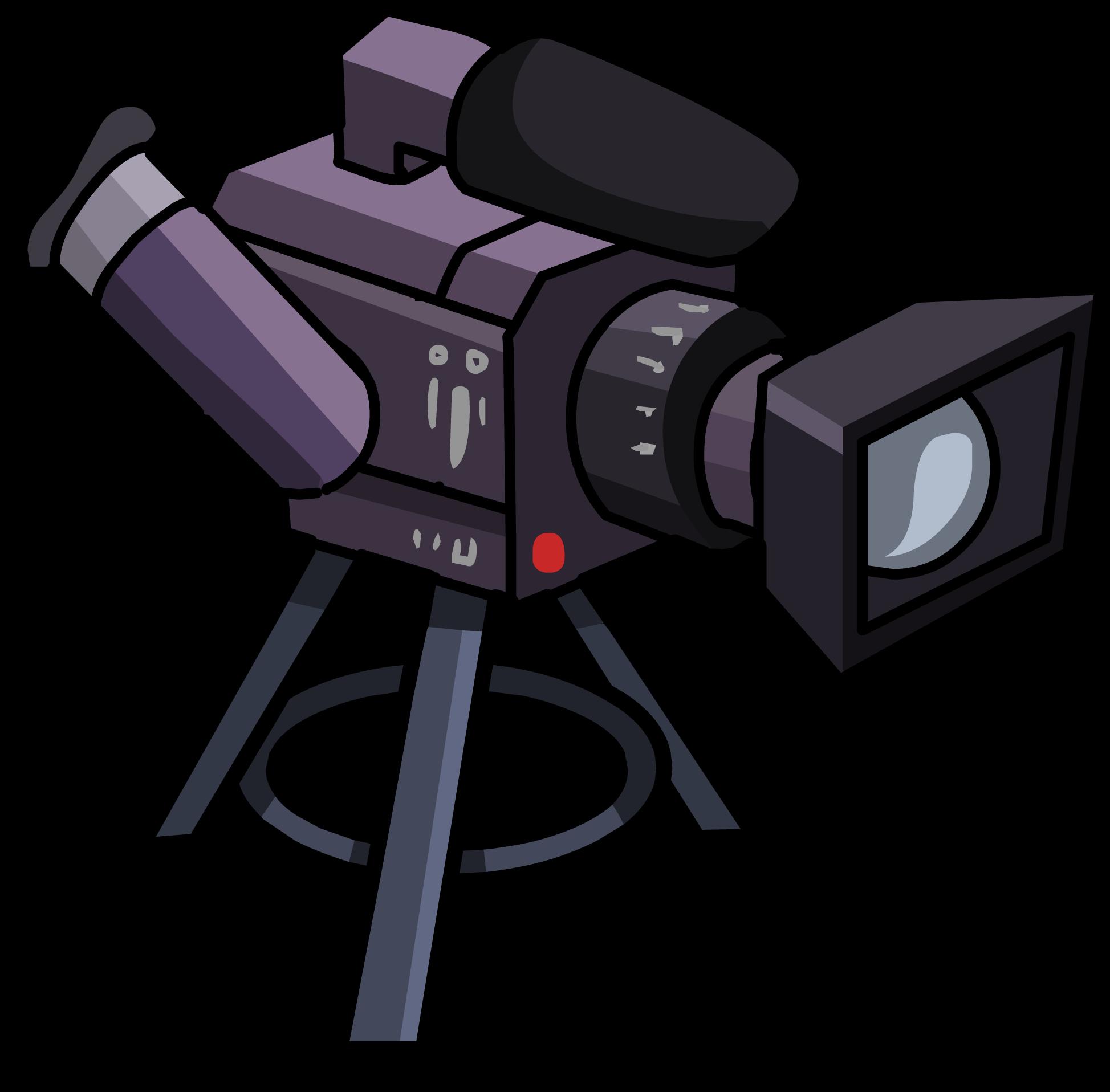 Television clipart television camera. Video club penguin wiki