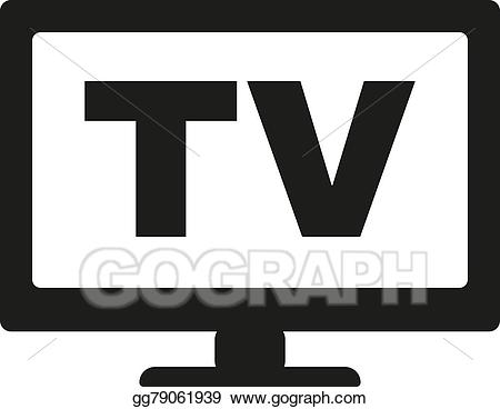 Vector stock the tv. Television clipart telly