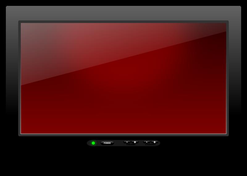 Television clipart telly. Plasma medium image png
