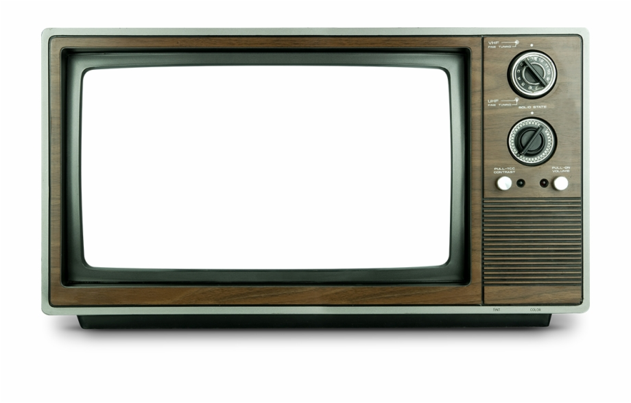 Television clipart tv frame. Antigua png transparent old