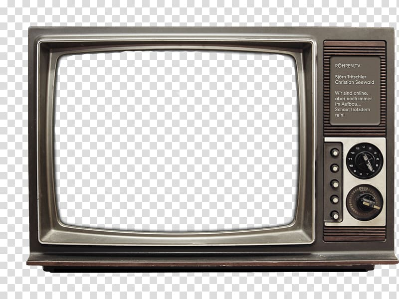 Television clipart tv frame. Gray crt turned on