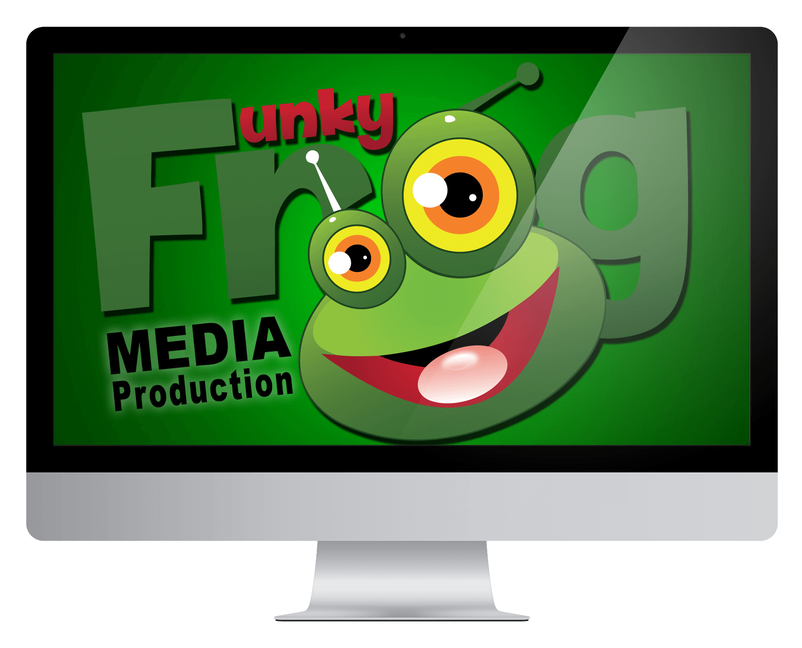 Television clipart tv production. Funky frog media