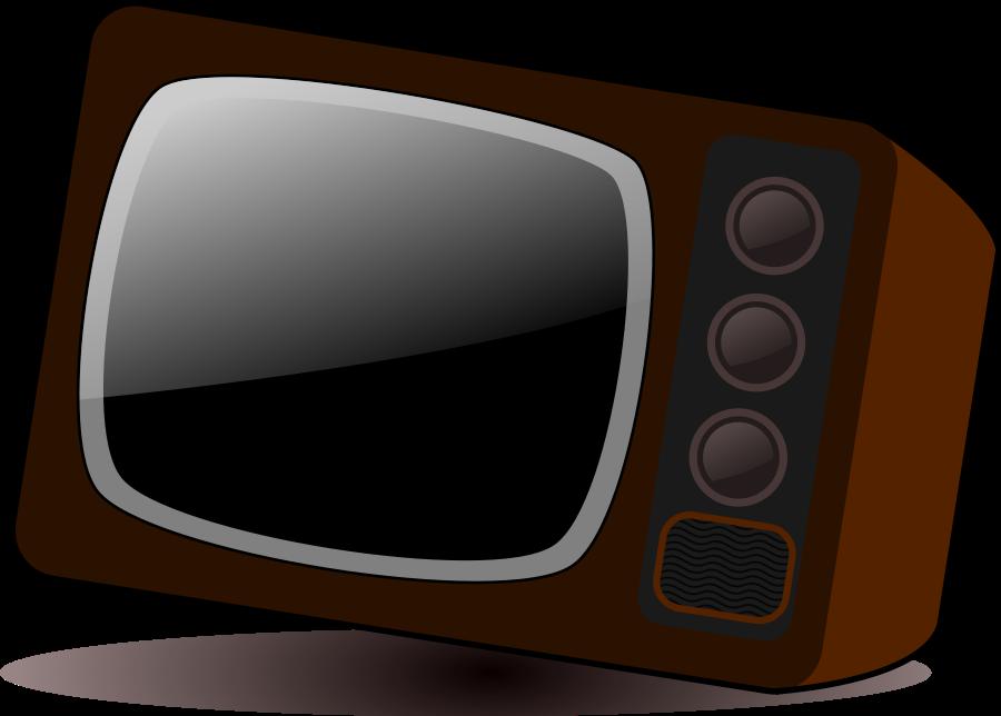 Old vector clip art. Television clipart tv set