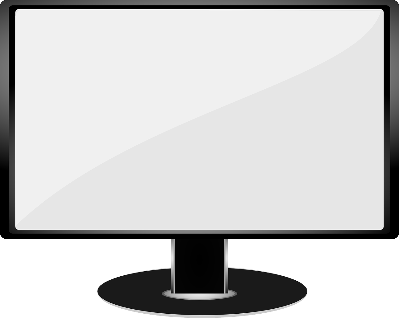 Monitor screen display tv. Television clipart vector