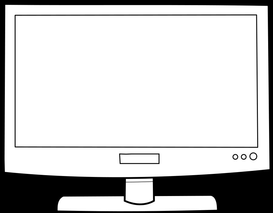 Television clipart vector. Tv medium pixel clip