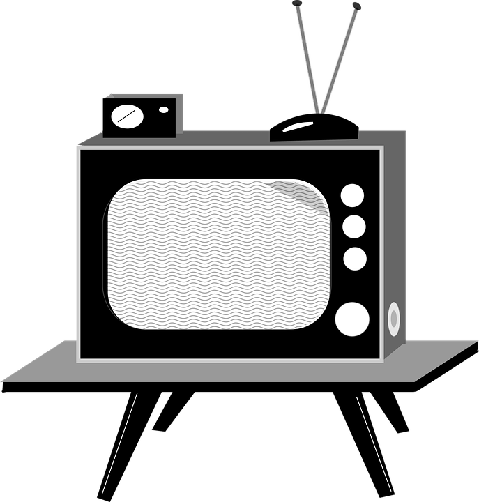 television clipart wall tv