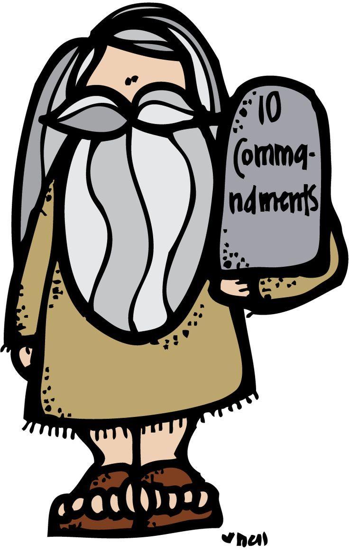 Moses the church kids. Ten commandments clipart