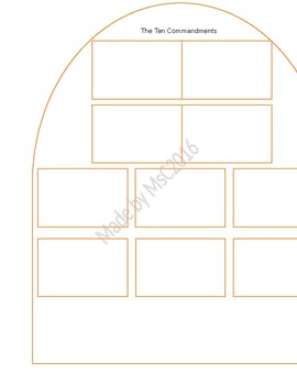 Template to write worksheets. Ten commandments clipart 10n