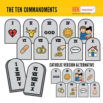 The clip art set. Ten commandments clipart