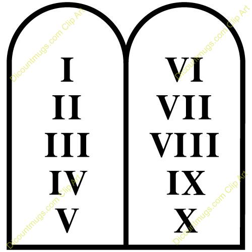 . Ten commandments clipart