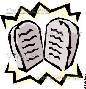 Ten commandments clipart. Vector clip art