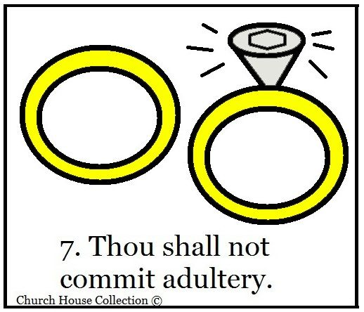Ten commandments clipart 3rd. Do not commit adultery