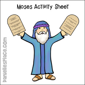 Ten commandments clipart 4th. Crafts and games for
