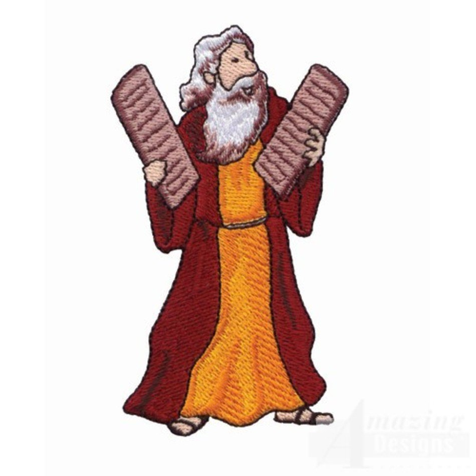 Ten commandments clipart animated. Moses and free image