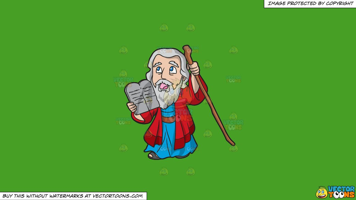 Ten commandments clipart animated. Moses holding the on