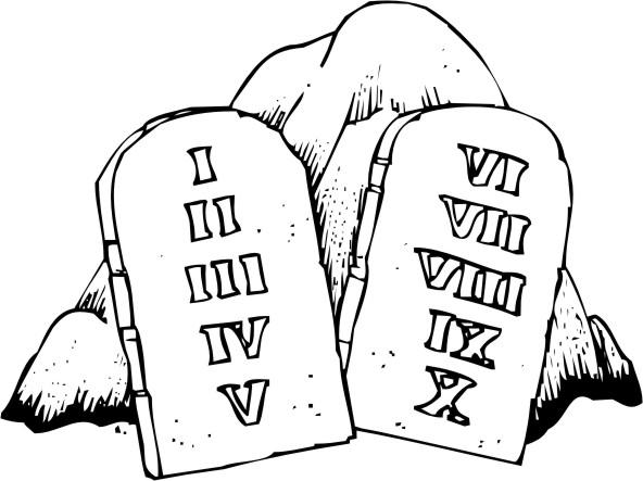 Station . Ten commandments clipart black and white