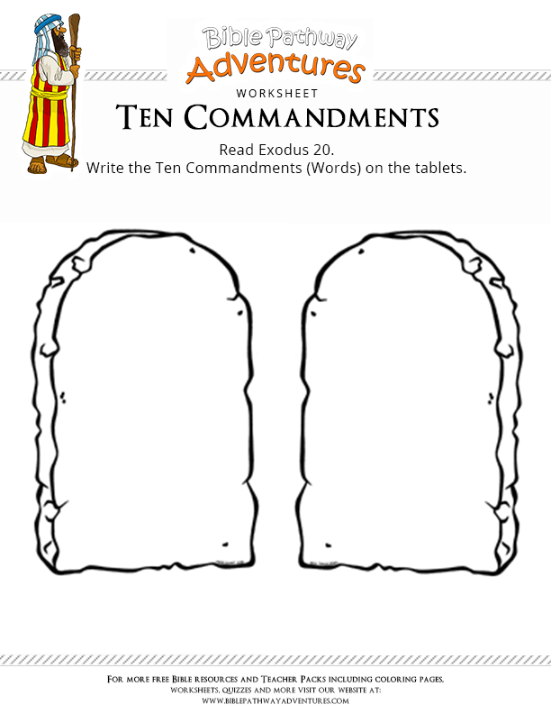 Ten commandments clipart blank. Enjoy our free bible