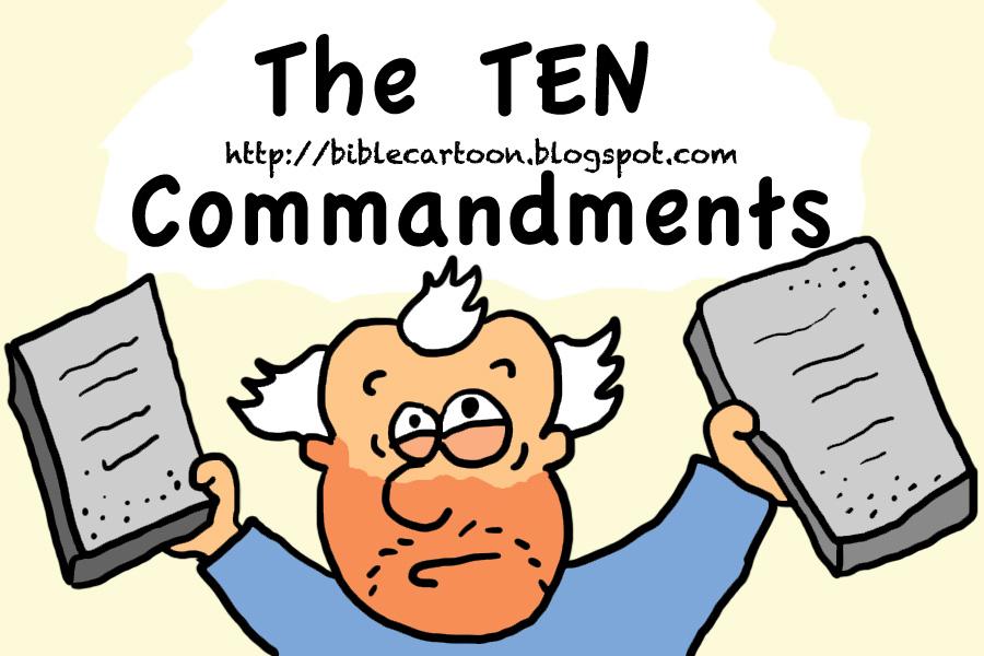 Ten commandments clipart cartoon. Bible moses