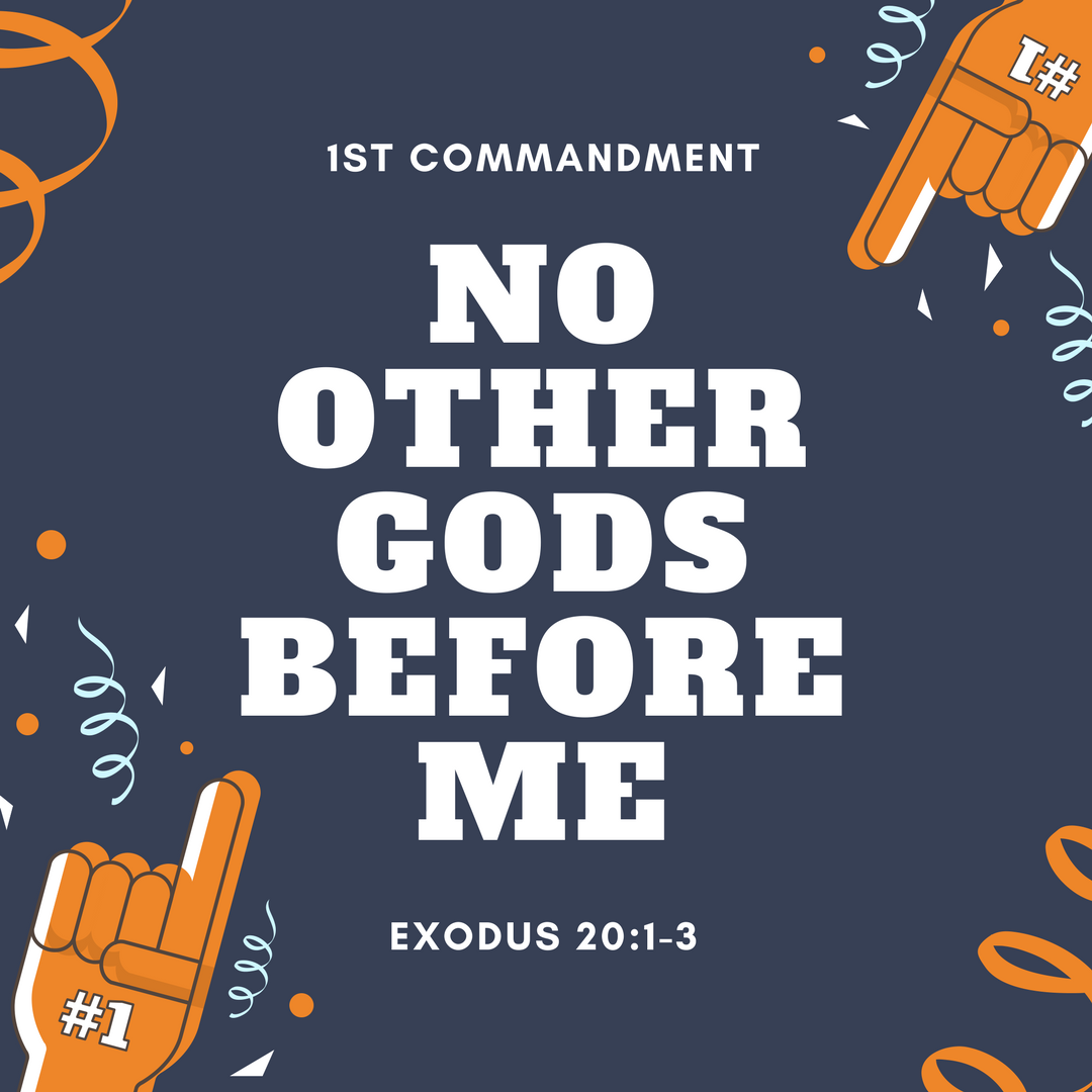 Reflections on the first. Ten commandments clipart doctrine