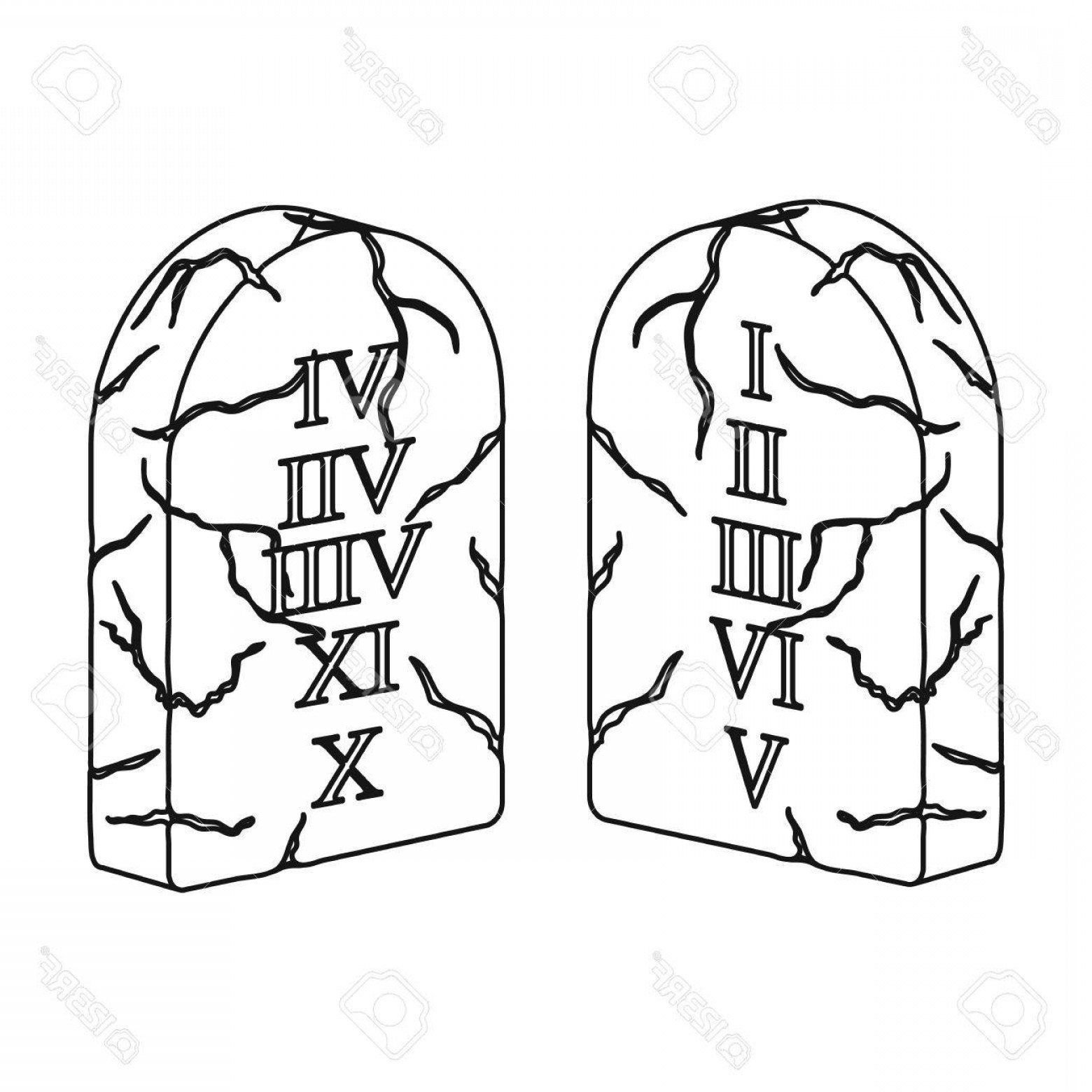 Ten commandments clipart drawing.  free download best