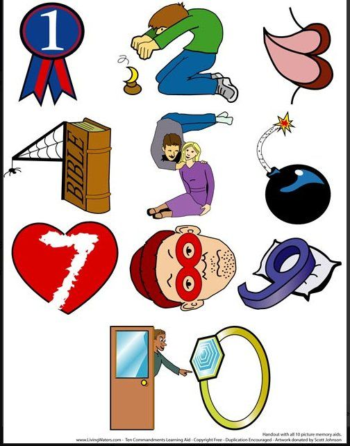 Ten commandments clipart easy. Way for the kids