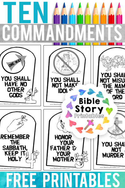 Ten commandments clipart easy. Coloring pages