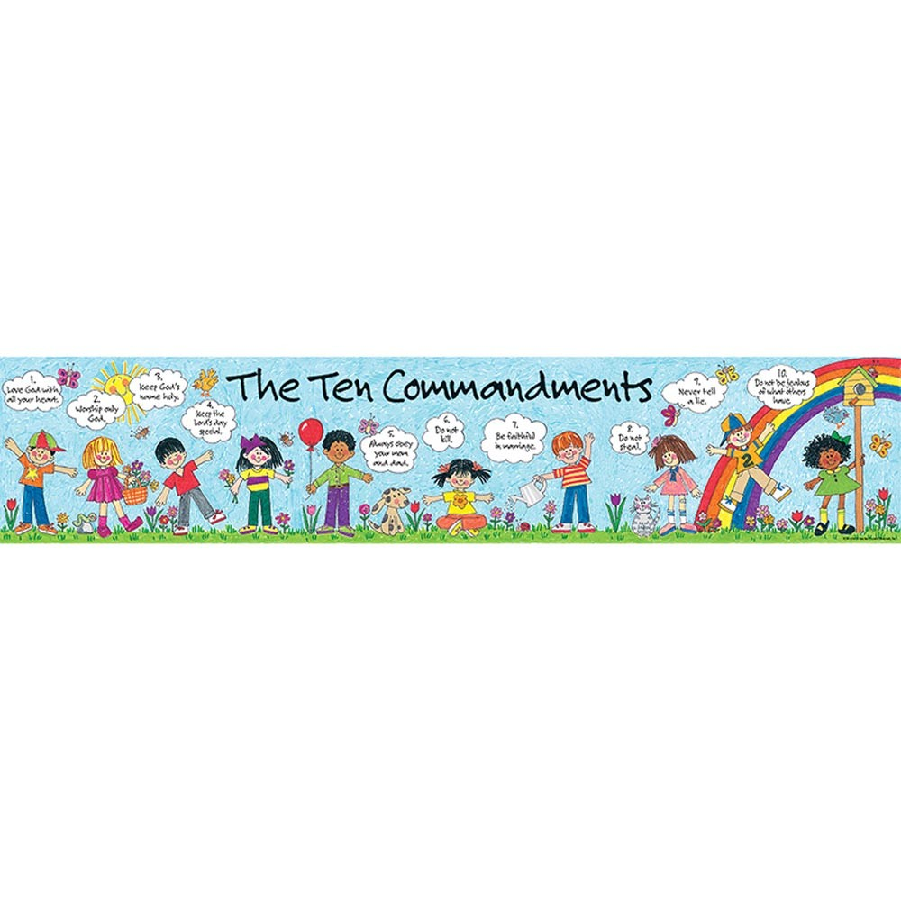 Childrens banner . Ten commandments clipart easy