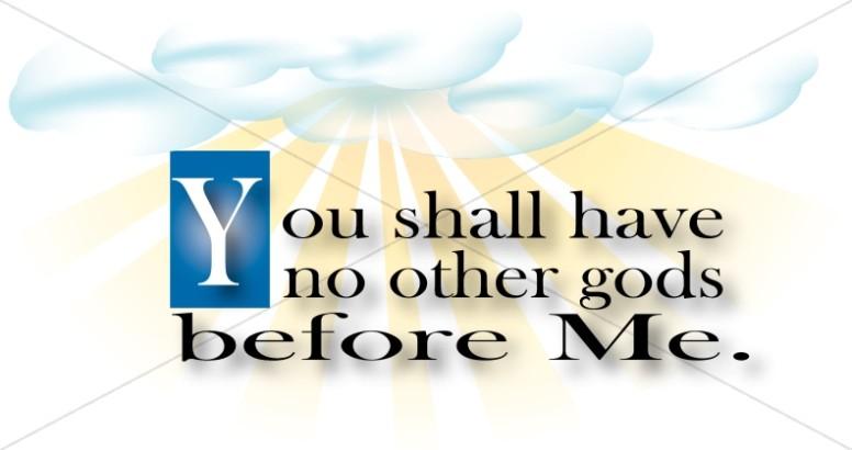 Ten commandments clipart first commandment. Moses