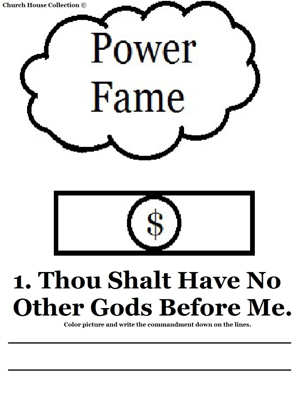 st this is. Ten commandments clipart first commandment