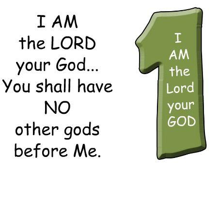 Commandment of the for. Ten commandments clipart first three