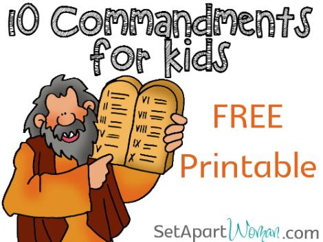 Ten commandments clipart first three.  for kids free