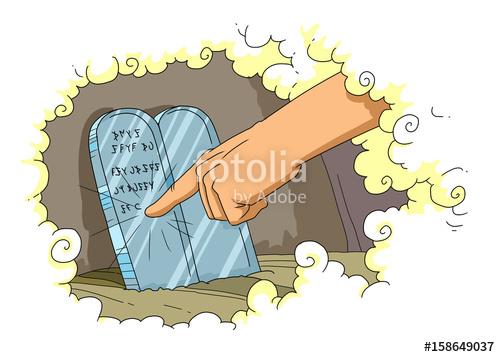 Ten commandments clipart gods. Finger of god write