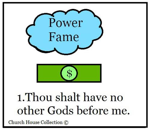 Thou shalt have no. Ten commandments clipart gods