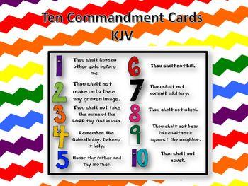 Commandment printable cards children. Ten commandments clipart kid kjv