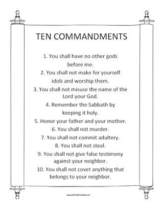 Ten Commandments Clipart Kid Kjv Ten Commandments Kid Kjv
