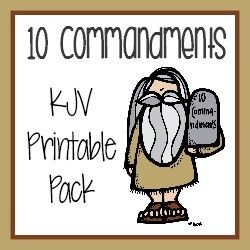 Ten commandments clipart kid kjv.  mini unit study