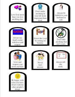 The commandment printable i. Ten commandments clipart kindergarten