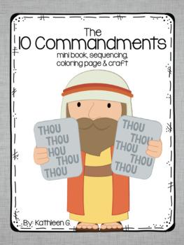 The by kathleen g. Ten commandments clipart kindergarten