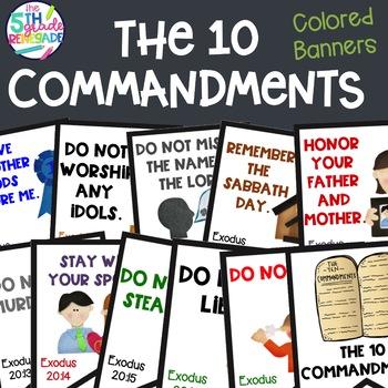 Ten commandments clipart kindergarten.  clip art worksheets