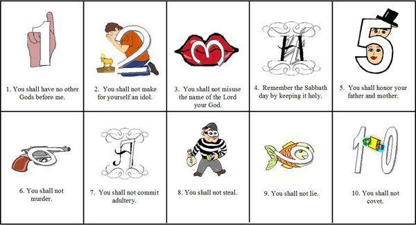 Helping kids remember the. Ten commandments clipart kindergarten