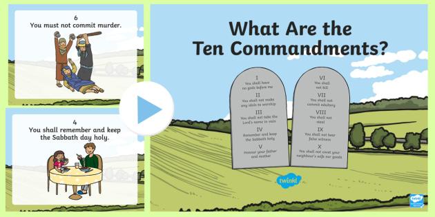 The powerpoint . Ten commandments clipart ks2