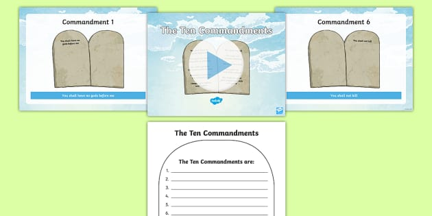 Ten commandments clipart ks2. The information powerpoint and
