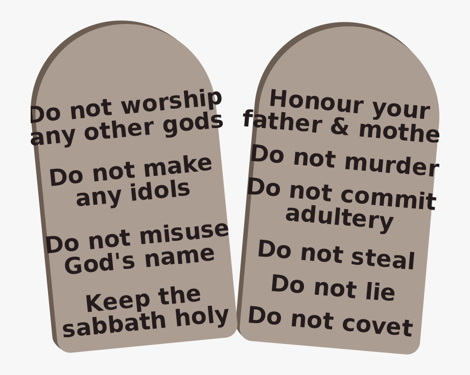 Ten commandments clipart little kid. Free stone