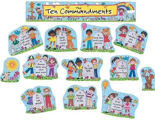 Ten commandments clipart little kid. Amazon com teacher created