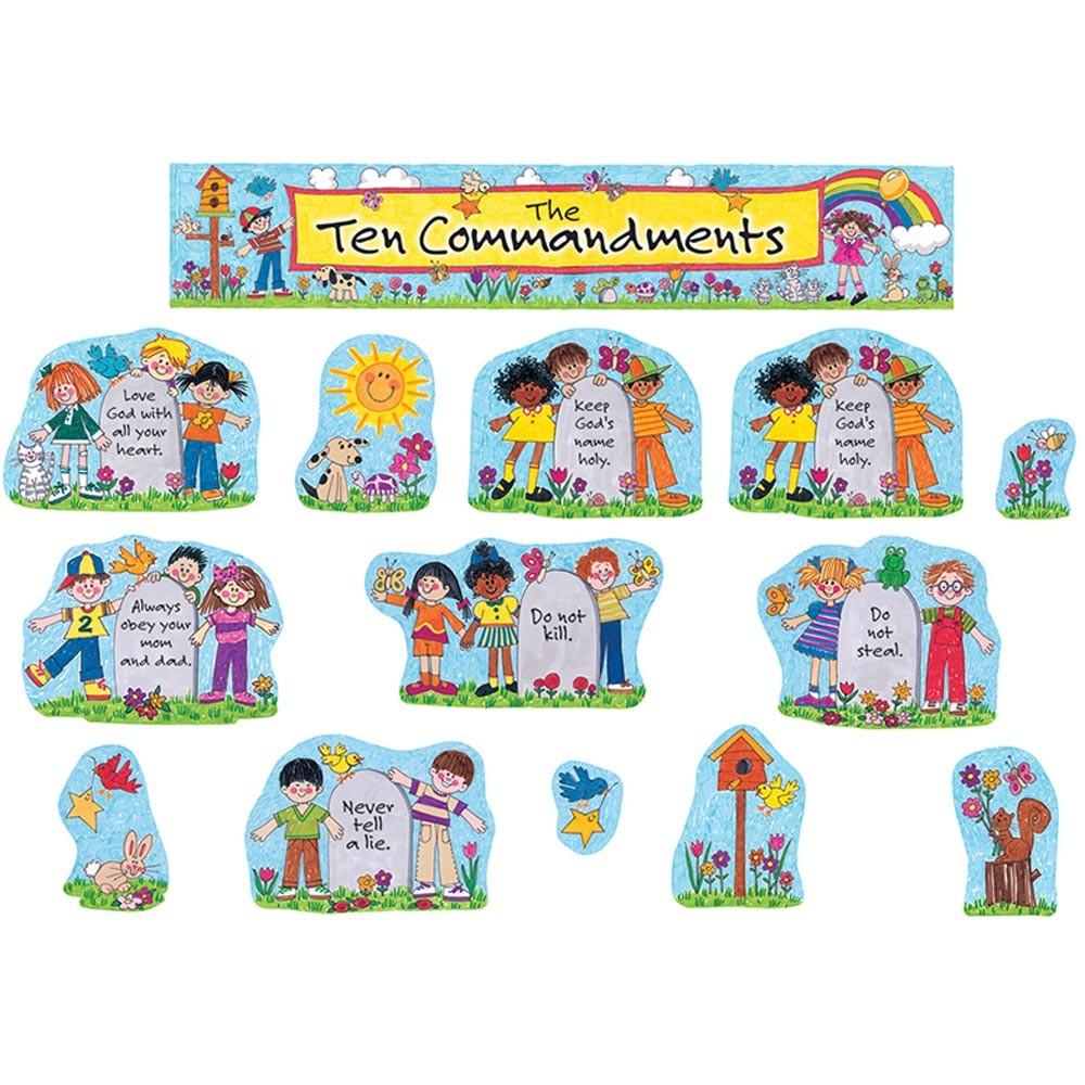 Childrens bulletin board . Ten commandments clipart little kid