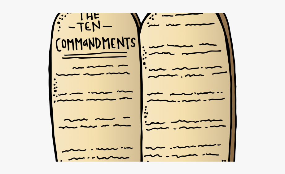 Ten commandments clipart little kid. Tablet