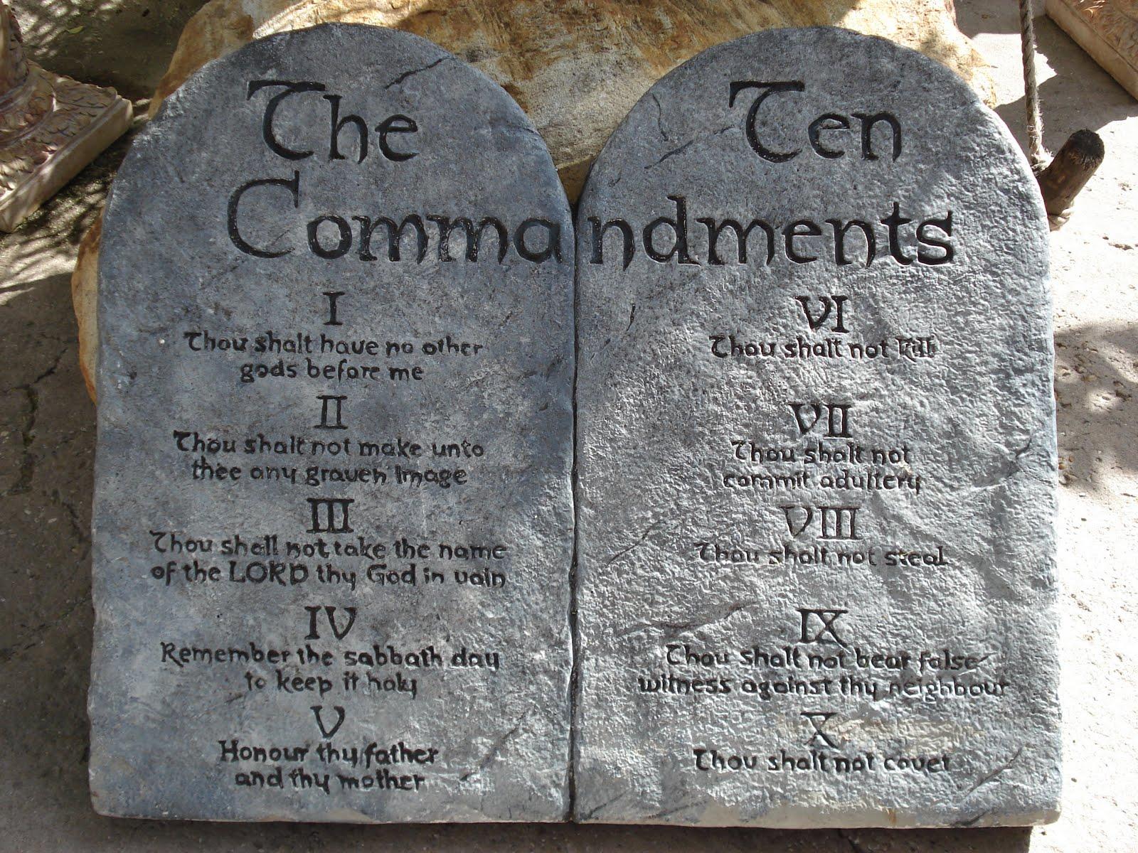 ten commandments clipart meaning